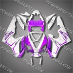 Triumph Daytona 675 06-08 Purple White Fairing-Handcraft, Free Shipping!