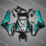 Triumph Daytona 675 06-08 Triple Blue Flame Fairing-Handcraft, Free Shipping!