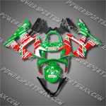 Honda 00-01 CBR 929RR ABS Fairing Green Red RARE H9012, Free Shipping!