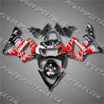 Aftermarket ABS Honda Fairing For 00-01 CBR929RR 2000 2001 Black Red RARE H9013, Free Shipping!