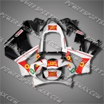 Honda 00-01 CBR 929RR ABS Fairing White Black Red Hull, Free Shipping!