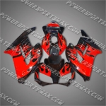 Injection Molded For CBR1000RR 04 05 Red Flames Fairing