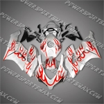 Honda CBR1000RR 04 05 Orange Flames Fairing 14N02, Free Shipping!