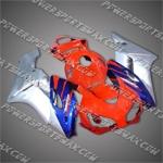 Honda CBR1000RR 04 05 Red Silver Fairing, Free Shipping!