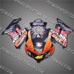 Honda CBR1000RR 04 05 Orange Repsol Fairing ZH561