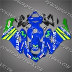 Honda CBR1000RR 04 05 Blue Green Movistar Fairing, Free Shipping!