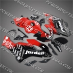 Honda CBR1000RR 04 05 Red Black Fairing ZN772