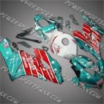 Honda CBR1000RR 04 05 Castrol Red Cyan Fairing, Free Shipping!