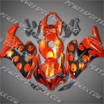 Honda CBR1000RR 04 05 Darts Flames Fairing 183A, Free Shipping!