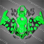 Honda CBR1000RR 04 05 Green Flames Fairing 14N27