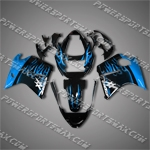 Honda CBR1100XX Blackbird Blue Flames Fairing 11N17