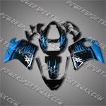 Honda CBR1100XX Blackbird Blue Flames Fairing 11N17, Free Shipping!