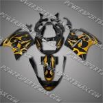 Honda CBR1100XX Blackbird Gold Flames Fairing 11N35, Free Shipping!