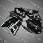 Honda CBR1100XX Blackbird 96-07 Silver Black ABS Fairing ZN89, Free Shipping!