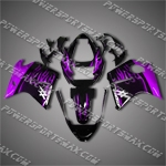 Honda CBR1100XX Blackbird Purple Flame Fairing 1106, Free Shipping!
