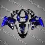 Honda CBR1100XX 96-07 Blackbird Blue Flames Fairing 11N03, Free Shipping!