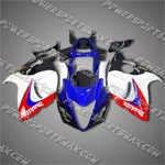 Suzuki Hayabusa GSX1300R 08 09 Red White Blue ABS Fairing 38Z21, Free Shipping!