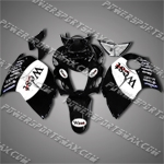 Suzuki Hayabusa GSX1300R 08 09 West Black Fairing