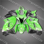 Suzuki Hayabusa GSX1300R 08 09 Green Black Fairing ZZ534