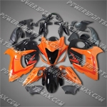 Suzuki Hayabusa GSX1300R 08 09 Orange Black Fairing ZZ531, Free Shipping!