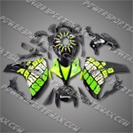 Honda CBR1000RR 08-11 Repsol Green Black ABS Fairing ZN746, Free Shipping!