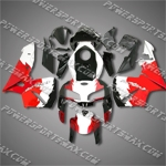 Honda CBR600RR 05 06 Red Black White Fairing ZN696