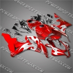 Honda CBR600RR 07 08 Flames Red Fairing 67N25, Free Shipping!