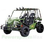 GK-F014 150cc Go Kart with Automatic Transmission w/Reverse, Big Front Bumper, Top Hunting Light!