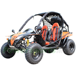 "GK-C06 200GKF Go Kart with CVT Transmission w/Reverse, Disc Brakes! Aluminum Wheel with Sparetire! Big 21""/22"" Wheels!"