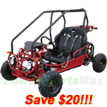 GK-F015-R242 110cc Go Kart with Automatic Transmission w/Reverse and Remote Control!Refurbished,In crate!