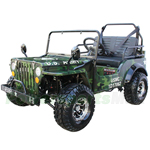 "Coolster GK-6125A 125cc Jeep Go Kart with 3-Speed Semi-Automatic Transmission w/Reverse, Big 18"" Chrome Wheels!"