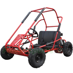 GK-M03 200cc Kid Middle Size Go Kart with Automatic Transmission, 6.5HP General Purpose Engine! Front Shock Upgraded!