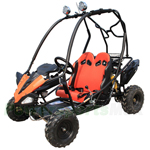 GK-X11 125GKS Go Kart with Automatic Transmission w/Reverse, Remote Control! Hand & Foot Brake! Roof Lights!
