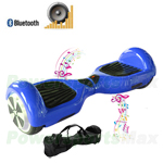 "Blue Electric Balance Scooter Hoverboard, with Bluetooth and Speaker, 6.5""tires, Free Shipping!"