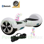 "White Bluetooth Electric Balance Scooter Hoverboard, 6.5""tires! LScooter MSRP $699.99 Holiday Special $349.95 only! Free Shippin"