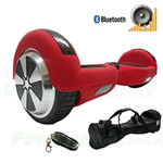"Refurbished Matt Red Hoverboard, 6.5"" tires, With Bluetooth Speaker, Fender Flashlights, Remote Control & Free Bag! Free Ship!"