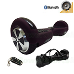 "Refurbished Matt Violet Hoverboard, 6.5"" tires, With Bluetooth Speaker, Fender Flashlights, Remote Control & Free Bag! Free Ship"