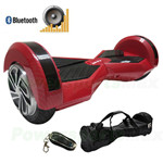 "Refurbished 8"" Carbon Red Lamborghini Version Hoverboard, With Bluetooth, Fender Flashlight, Remote Control & Bag! Free Ship!"