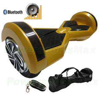 8 Quot Carbon Gold Lamborghini Version Hoverboard With Bluetooth And Speaker Fende