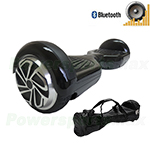 Refurbished Black Self Balancing Scooter Hoverboard, with Bluetooth Speaker, Fender Flashlights and Free Bag! Free Ship!
