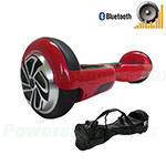 Refurbished Red Self Balancing Scooter Hoverboard, with Bluetooth Speaker, Fender Flashlights and Free Carrying Bag! Free Shippi