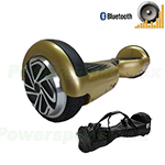 Refurbished Gold Self Balancing Scooter Hoverboard, with Bluetooth Speaker, Fender Flashlights and Free Carrying Bag! Free Shipp