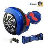 "8"" Blue Lamborghini Version Hoverboard! UL Certified Charger & Battery, Bluetooth, Fender Flashlight, Remote & Bag! Free Ship!"