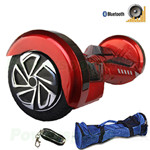 "8"" Burgundy Lamborghini Version Hoverboard! UL Certified Charger & Battery, Bluetooth, Fender Flashlight, Remote & Bag! Free Shi"