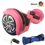 "8"" Pink Lamborghini Version Hoverboard! UL Certified Charger & Battery, Bluetooth, Fender Flashlight, Remote & Bag! Free Ship!"