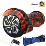 "8"" Hot Rod Flame Lamborghini Version Hoverboard! UL Certified Charger & Battery, Bluetooth, Flashlight, Remote & Bag! Free Ship!"