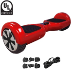 Red UL2272 Certified Balance Scooter Hoverboard, With Free Carrying Bag and Protection Kits! Free Shipping!