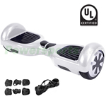 White UL2272 Certified Balance Scooter Hoverboard, With Free Carrying Bag and Protection Kits! Free Shipping!