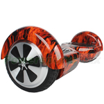 "Hot Rod Flame Electric Two-Wheel Self Balancing Scooter, 6.5"" tires, Free Shipping!"