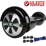 Black UL2272 Certified Balancing Scooter Hoverboard, w/Free Protection Kits and Free Bag! Free Shipping!